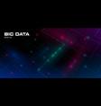 big data visualization futuristic background vector image vector image