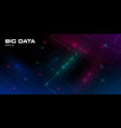 big data visualization futuristic background with vector image vector image