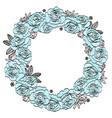 Blue roses wedding floral wreath
