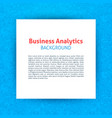 business analytics paper template vector image vector image