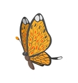 Butterfly cartoon icon vector image vector image