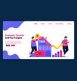 cartoon banner template for achieve economic vector image vector image