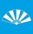 chinese fan icon white vector image vector image