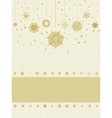 Christmas greeting card with snowflakes EPS 8 vector image vector image