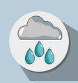 cloud raining and natural waether conservation vector image