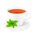 cup of tea 06 vector image vector image
