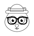 cute dog character hipster style vector image vector image