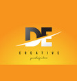 de d e letter modern logo design with yellow vector image vector image