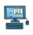 desk computer symbol vector image vector image