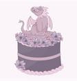 dragon cake birthday party cartoon vector image