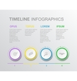 elements timeline infographic diagram vector image vector image