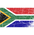 Flag of South Africa with old texture vector image