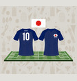 football japan sport wear tshirt vector image vector image
