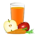 fresh fruits juice vector image vector image