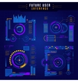 Future User Interface Icon Set vector image vector image