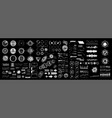 futuristic digital collection hud for ui ux vector image vector image