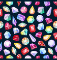 gemstones jewelry diamonds gems seamless pattern vector image