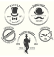 Gentleman barber shop labels vector image vector image