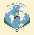 geodetic works vector image