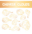 golden clouds and wind blows hand drawn vector image