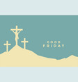 good friday flat color style background design vector image vector image