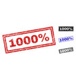 grunge 1000 percent textured rectangle stamps vector image vector image