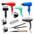 hair dryer fashion hairdryer of hairdresser vector image