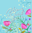 home sweet home hand lettering flowers greeting vector image vector image