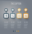 icon line construction set of wrench hardware vector image