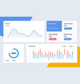 Infographic dashboard template with flat design