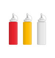ketchup mayonnaise mustard vector image vector image