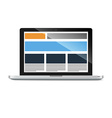 laptop with responsive grid layout vector image vector image