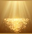 lights on yellow background bokeh effect vector image vector image