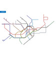map of the london underground vector image vector image