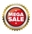 Mega Sale badge vector image