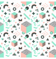 memphis seamless pattern abstract background vector image vector image