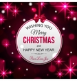 Merry Christmas and Happy New Year typographical vector image vector image