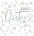 Merry Christmas handwritten lettering design with vector image vector image
