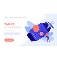 mobile device repair concept landing page vector image vector image