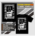 mock up clothing company t-shirt templateholding vector image