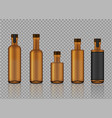 mock up realistic amber transparent glass vector image