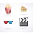 movies icon set vector image