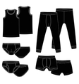 Pants briefs shirt vector image