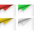 paper corners vector image vector image