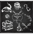 Pirates chalkboard icons set vector image vector image