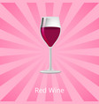 red wine glass of burgundy classic drink vector image vector image