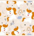 seamless childish pattern with cute unicorns vector image