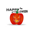 set of halloween pumpkins funny faces autumn vector image
