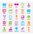 set seo and internet service icons vector image