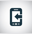 smartphone arrow icon for web and ui on white vector image vector image